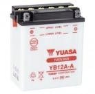 Μπαταρία μοτοσυκλετών YUASA Yumicron YB12A-A - 12V 12 (10HR) - 165 CCA (EN) εκκίνησης