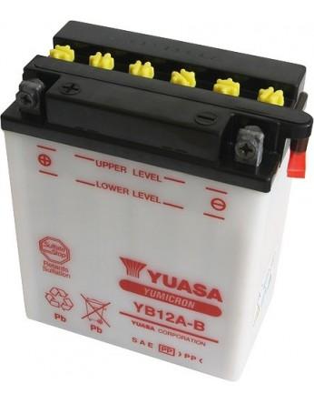 Μπαταρία μοτοσυκλετών YUASA Yumicron YB12A-B - 12V 12 (10HR) - 165 CCA (EN) εκκίνησης