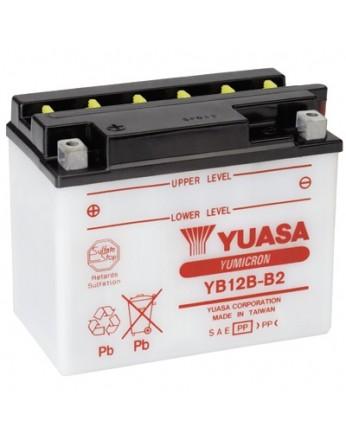 Μπαταρία μοτοσυκλετών YUASA Yumicron YB12B-B2 - 12V 12 (10HR) - 165 CCA (EN) εκκίνησης