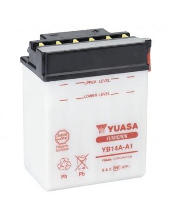 Μπαταρία μοτοσυκλετών YUASA Yumicron YB14A-A1 - 12V 14 (10HR) - 190 CCA (EN) εκκίνησης