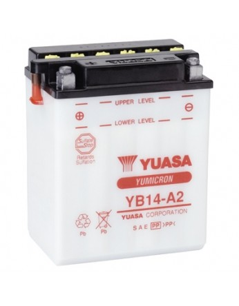 Μπαταρία μοτοσυκλετών YUASA Yumicron YB14A-A2 - 12V 14 (10HR) - 190 CCA (EN) εκκίνησης
