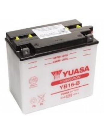 Μπαταρία μοτοσυκλετών YUASA Yumicron YB16-B - 12V 19 (10HR) - 240 CCA (EN) εκκίνησης