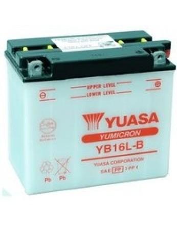 Μπαταρία μοτοσυκλετών YUASA Yumicron YB16L-B - 12V 19 (10HR) - 240 CCA (EN) εκκίνησης