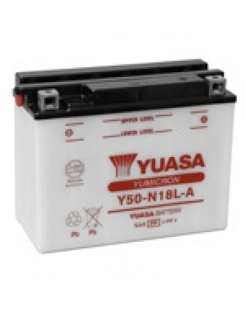Μπαταρία μοτοσυκλετών YUASA Yumicron Y50-N18L-A - 12V 20 (10HR) - 260 CCA (EN) εκκίνησης