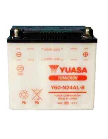 Μπαταρία μοτοσυκλετών YUASA Yumicron Y60-N24-AL-B - 12V 28 (10HR) - 300 CCA (EN) εκκίνησης