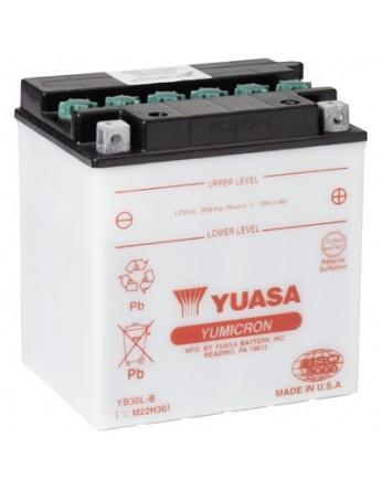 Μπαταρία μοτοσυκλετών YUASA Yumicron YB30L-B - 12V 30 (10HR) - 300 CCA (EN) εκκίνησης