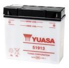 Μπαταρία μοτοσυκλετών YUASA Yumicron 51913 (ΧΩΡΙΣ ΥΓΡΑ) - 12V 19 (20HR) - 100 CCA (EN) εκκίνησης