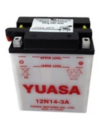 Μπαταρία μοτοσυκλετών YUASA Conventional 12N14-3A - 12V 14 (10HR) - 128 CCA (EN) εκκίνησης