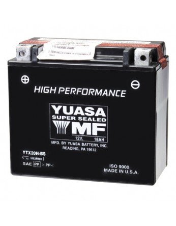 Μπαταρία μοτοσυκλετών YUASA High Performance Maintenance Free YTX20H-BS -12V 18 (10HR)Ah - 310 CCA(EN) εκκίνησης