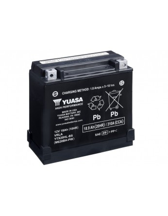 Μπαταρία μοτοσυκλετών YUASA High Performance Maintenance Free YTX20HL-BS-PW -12V 18 (10HR)Ah - 310 CCA(EN) εκκίνησης