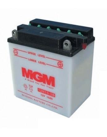 Μπαταρία μοτοσυκλετών MGM Conventional 12N10-3B - 12V 10 (10HR) - 103 CCA (EN) εκκίνησης