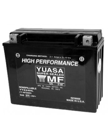 Μπαταρία μοτοσυκλετών YUASA High Performance Maintenance Free YTX24HL-BS -12V 21 (10HR)Ah - 350 CCA(EN) εκκίνησης
