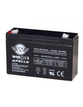 Μπαταρία Winner Apollo VRLA - AGM τεχνολογίας - 6V 12Ah