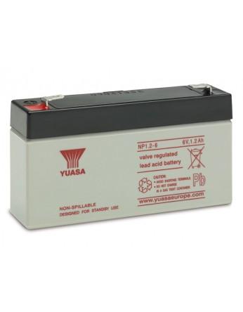 Μπαταρία YUASA NP1.2-6 VRLA - AGM τεχνολογίας - 6V 1.2Ah