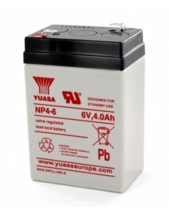 Μπαταρία YUASA NP4-6 VRLA - AGM τεχνολογίας - 6V 4Ah
