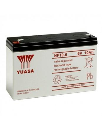 Μπαταρία YUASA NP10-6 VRLA - AGM τεχνολογίας - 6V 10Ah