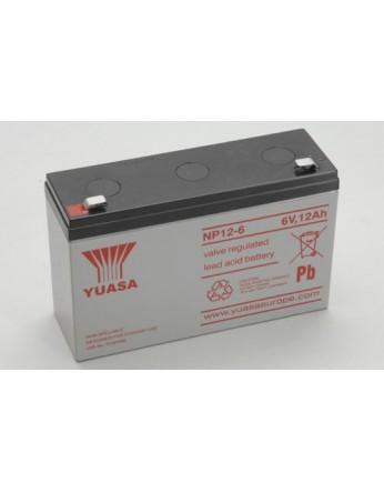 Μπαταρία YUASA NP12-6 VRLA - AGM τεχνολογίας - 6V 12Ah