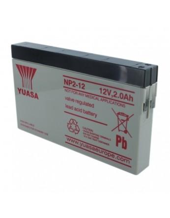 Μπαταρία YUASA NP2-12 VRLA - AGM τεχνολογίας - 12V 2Ah