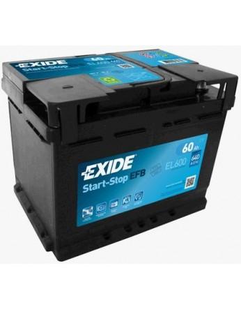Μπαταρία αυτοκινήτου Exide EFB Start & Stop EL600 - 12V 60 Ah - 640CCA A(EN) Εκκίνησης