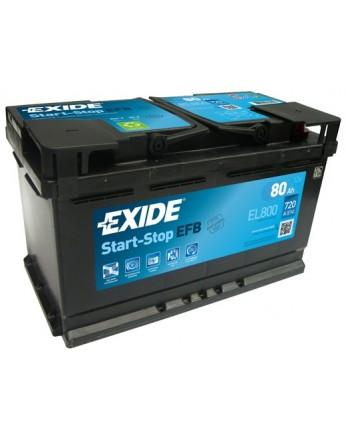 Μπαταρία αυτοκινήτου Exide EFB Start & Stop EL800 - 12V 80 Ah - 720CCA A(EN) Εκκίνησης
