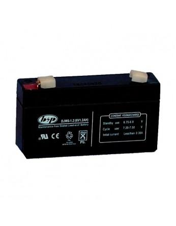 Μπαταρία B&P DJW 6-1.2 VRLA - AGM τεχνολογίας - 6V 1.2Ah (C20)