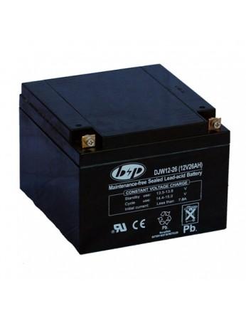 Μπαταρία B&P DJW 12-26 VRLA - AGM τεχνολογίας - 12V 26Ah