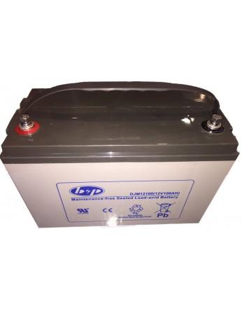 Μπαταρία B&P DJM 12-100 VRLA - AGM τεχνολογίας - 12V 100Ah κατάλληλη για ηλεκτρικά μοτέρ, τροχόσπιτα, φωτοβολταϊκά συστήματα, service σε σκάφη αναψυχής