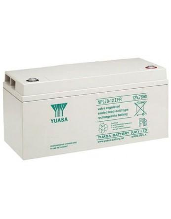 Μπαταρία YUASA NPL78-12I VRLA - AGM τεχνολογίας - 12V 78Ah