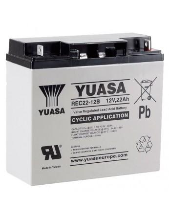 Μπαταρία YUASA REC22-12 VRLA - AGM τεχνολογίας - 12V 22Ah