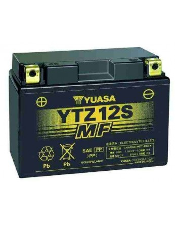 Μπαταρία μοτοσυκλετών YUASA JAPAN High Performance Maintenance Free Gel YTZ12S / TTZ12S -12V 11 (10HR)Ah - 210 CCA(EN) εκκίνησης