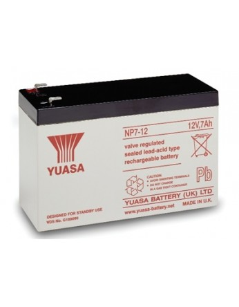 Μπαταρία YUASA NP7-12S VRLA - AGM τεχνολογίας - 12V 7Ah