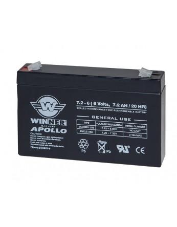 Μπαταρία Winner Apollo VRLA - AGM τεχνολογίας - 6V 7,2Ah