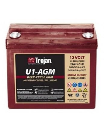 Μπαταρία Trojan Deep - Cycle AGM βαθιάς εκφόρτισης U1- AGM -12V 33Ah (C20)
