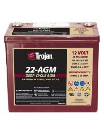 Μπαταρία Trojan Deep - Cycle AGM βαθιάς εκφόρτισης 22- AGM -12V 50Ah (C20)