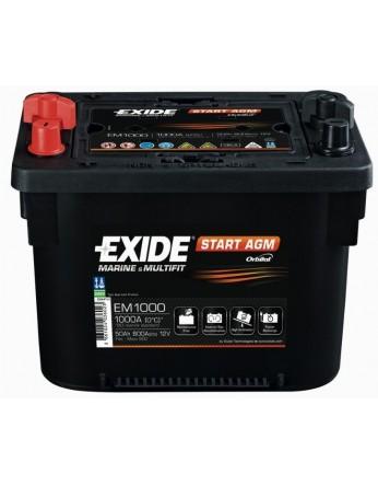 Μπαταρία Exide Start AGM EM 1000 - 12V 50Ah - 800CCA A(EN) εκκίνησης