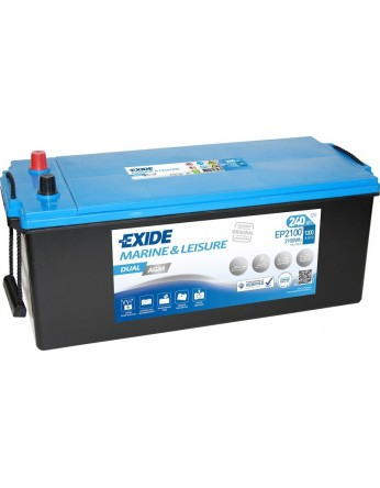 Μπαταρία Exide Dual AGM EP2100 - 12V 240Ah - 1200CCA A(EN) εκκίνησης
