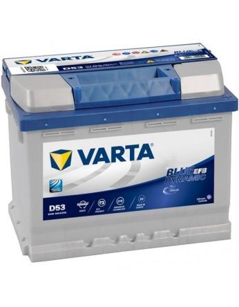 Μπαταρία αυτοκινήτου Varta Start Stop EFB D53 - 12V 60 Ah - 560CCA A(EN) εκκίνησης