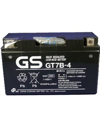 Μπαταρία μοτοσυκλετών GS AGM (factory activated) GT7B-4 - 12V 6.5Ah (10HR) - 110 CCA(EN) εκκίνησης