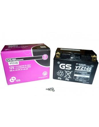 Μπαταρία μοτοσυκλετών GS AGM (factory activated) YTZ14S - 12V 11.2Ah (10HR) - 230 CCA(EN) εκκίνησης
