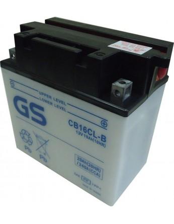 Μπαταρία μοτοσυκλετών ανοιχτού τύπου GS CB16CL-B - 12V 19 (10HR)