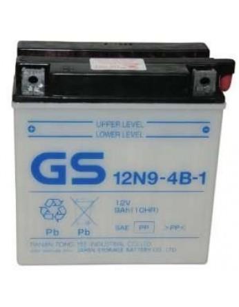 Μπαταρία μοτοσυκλετών ανοιχτού τύπου GS Conventional 12N9-4B-1 12V 9Ah(10HR)