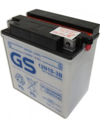 Μπαταρία μοτοσυκλετών ανοιχτού τύπου GS Conventional 12N10-3B - 12V 10(10HR)