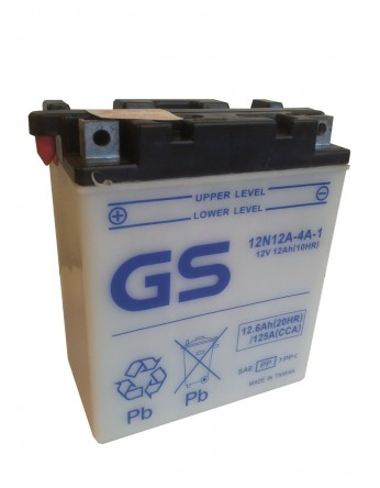 Μπαταρία μοτοσυκλετών ανοιχτού τύπου GS Conventiona 12N12A-4A-1 - 12V 12(10HR)
