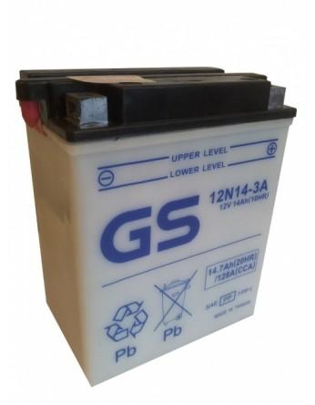 Μπαταρία μοτοσυκλετών ανοιχτού τύπου GS Conventional 12N14-3A - 12V 14(10HR)