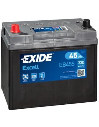 Μπαταρία αυτοκινήτου Exide Excell EB455 - 12V 45Ah - 300 CCA A(EN) εκκίνησης