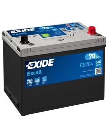 Μπαταρία αυτοκινήτου Exide Excell EB704 - 12V 70Ah - 540 CCA A(EN) εκκίνησης