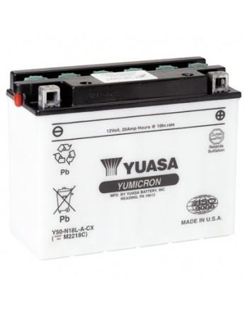 Μπαταρία μοτοσυκλετών YUASA Yumicron Y50-N18L-A3 - 12V 20 (10HR) - 260 CCA (EN) εκκίνησης