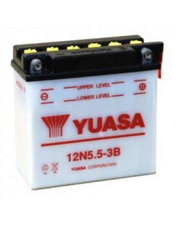 Μπαταρία μοτοσυκλετών YUASA Conventional 12N5.5-3B - 12V 5.5 (10HR) - 60 CCA (EN) εκκίνησης