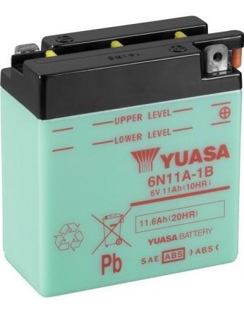 Μπαταρία μοτοσυκλετών YUASA Conventional 6N11A-1B - 6V 11 (10HR)