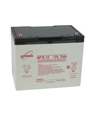 Μπαταρία GENESIS NP75-12 VRLA - AGM τεχνολογίας - 12V 75Ah